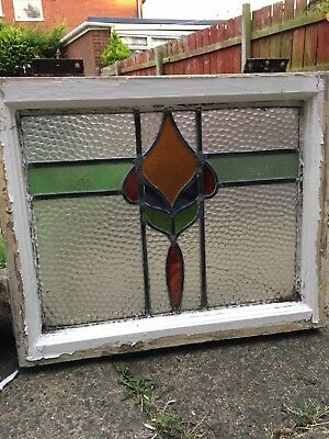 1930s stained glass window