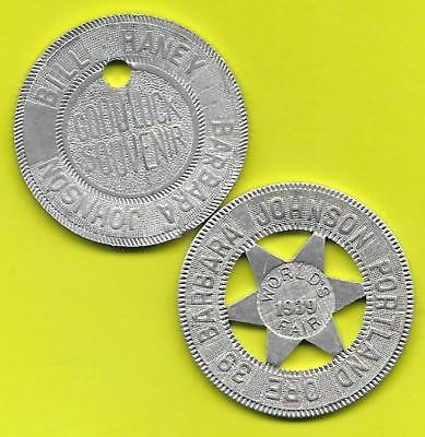 Aluminum Good Luck Souvenir Tokens – Barbara Johnson – Portland, Oregon