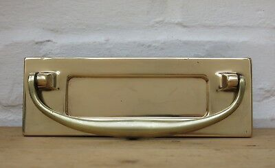 Vintage BRASS Letter Box / Door Knocker (READY TO FIT)
