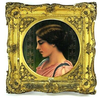 A Very Fine 19Th Century Portrait Of A Lady Gilt Frame Antique Oil Painting