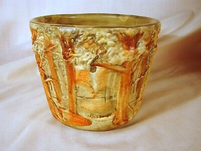 Old Weller Forest 5-1/2 inch Jardiniere, Excellent Condition, ca. 1915-1928