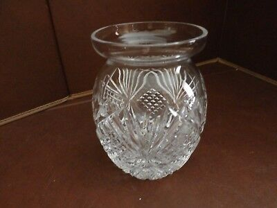 "Irish Tyrone Crystal  "" ARDS "" Honey / Marmalade Pot"