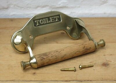 Reclaimed BRASS Toilet Roll Holder (FIXING SCREWS INCLUDED)