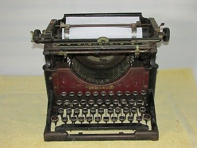 Rare Antique Underwood Manual Typewriter, from Western Union Office, All CAPS!