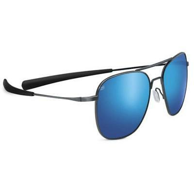 dd1805ad86e Serengeti Aerial Sunglasses - 8205 - Shiny Dark Gunmetal w  Polarized 555nm  Lens