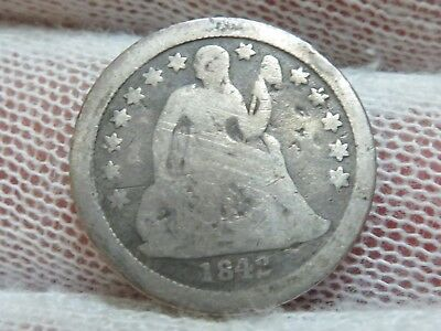 1842o silver Seated Liberty Dime and free shipping