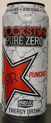 New Sealed Rockstar Pure Zero Energy Drink 16-Ounce Cans Free Worldwide Ship