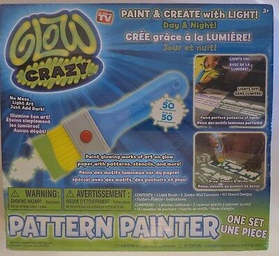 Glow Crazy Pattern Painter Draw with Light! No Mess Just Add Dark! New/Sealed
