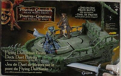 Pirates Of The Caribbean Flying Dutchman Pirate Deck Duel Play Set Complete