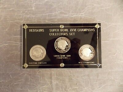 Superbowl XXII pure silver coin set