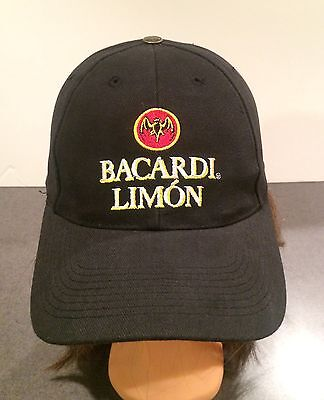 Bacardi Limon Hat Baseball Cap Adjustable Velcro Rocks Tonic Juice Magic Rum