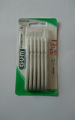 Gum 6 brossettes interdentaires bi-direction 0,7 mm