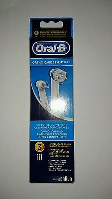 Braun Oral-B Ortho Care Essentials Pour Appareil Orthodontiques 3 Brossettes