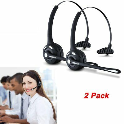 Mpow Bluetooth Wireless Over Head Boom Mic Headset Earphone Rechargeable Driver
