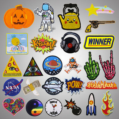 Punk Embroidery Sew On Iron On Patch Clothes Badge Fabric Applique Craft Sticker