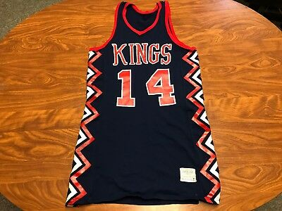 Vtg 60's 70's Sand Knit Kings Indiana High School Basketball Game Worn Jersey