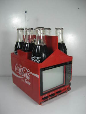 Vintage Coca Cola TV Radio Six Pack Crate Bottles Rare Germany Promotional VGC