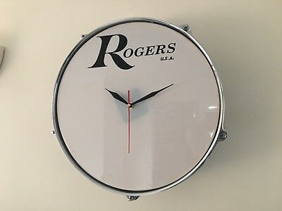 "13"" Tom Tom Clock With Rogers USA Logo Ideal Christmas Gift Drum Kit"