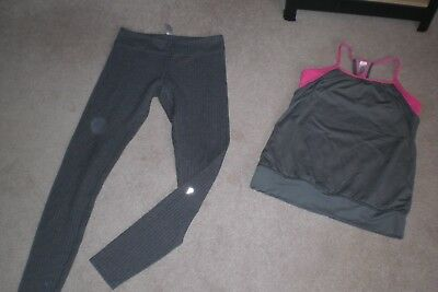 Lot of Girls Ivivva by Lululemon Tights and Tank sz 14
