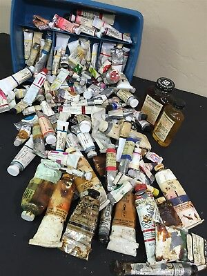 HUGE LOT Vtg Old Stock Winsor Newton Guitar Watercolor Artist Paint Acrylic