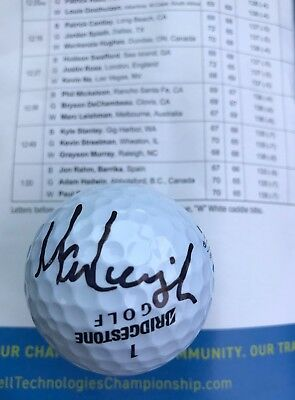 Marc Leishman Hand Signed 2017 Dell Championship Golf Ball Fedex Cup