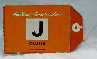 Nieuw Amsterdam Stateroom Bag Tag J Holland America Line Cruise