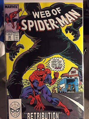 Web of Spider-Man #39 May 1987 Marvel - NM! Blacksuit