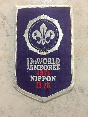 BSA 13th World Jamboree Patch, 1971 Nippon, Woven?