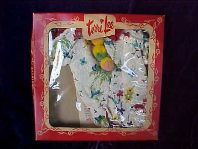 Vintage 1950's Tiny Terri Jerri Lee Outfit with Box - Unused - Clown Pajamas