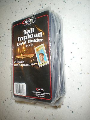 TALL CARD TOPLOADER (3 x 5), package of 25