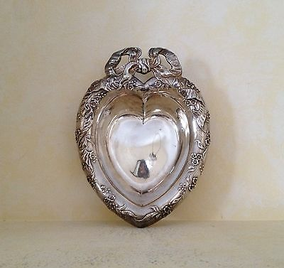 Reed & Barton Silver Plate Heart-Shaped Candy Dish/Bowl