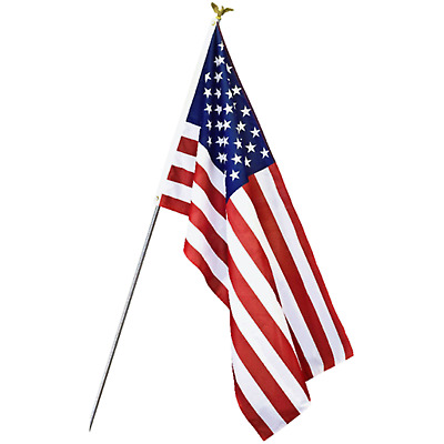 3x5 Ft American Flag Stripes Polyester USA U.S. US STARS Edges Embroidered  Sewn