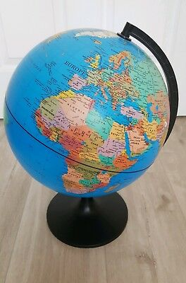 Child's Early Learning Atlas Globe World Map Revolving Very Good Condition.