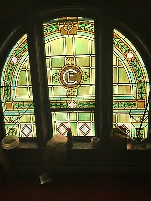 vintage stained glass window church