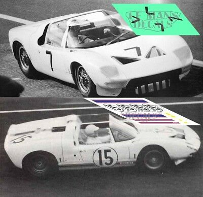 Calcas Ford GT40 Roadster Le Mans 1965 15 1:32 1:24 1:43 1:18 64 87 slot decals