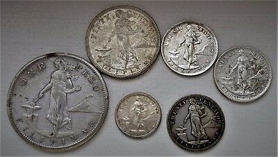 Group of Silver US Philippines Coins