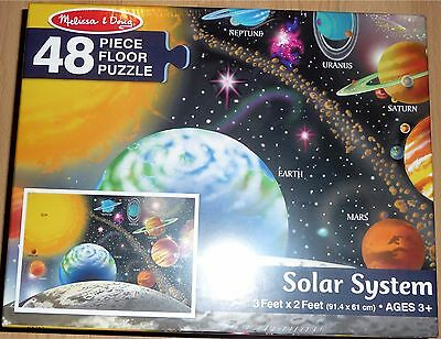 Melissa and Doug Solar System 48 Piece Floor Puzzle 3 Feet by 2 Feet New In Box