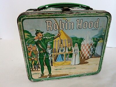 Vintage 1956 Robin Hood Lunchbox Made by Aladdin No Thermos