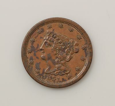 1851 Braided Hair Half Cent *Q06