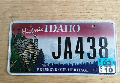 2013 Historic Idaho log cabin license plate/ Preserve our heritage