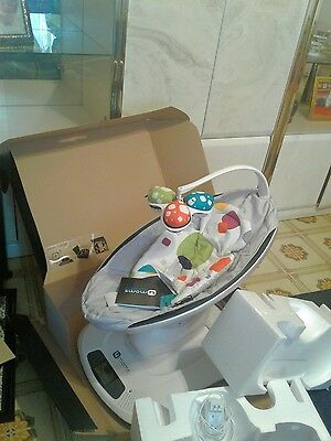 "4moms mamaroo swing classic gray ""used in mint condition""."