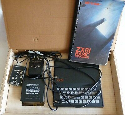 SINCLAIR ZX81 in original shipping box with manual, 16K RAM, Power Adapter