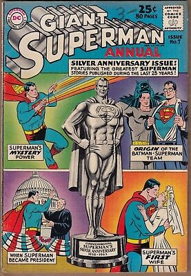 Superman Annual #7 (DC-1963) FN- *80 Pages* -combine ship-