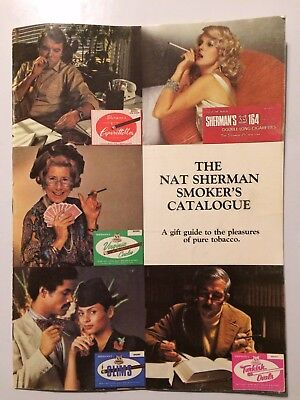 Nat Sherman Smoker's Catalogue Catalog Vintage