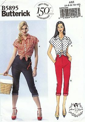 Butterick Pattern 5895 Top and Capri Pants Sized to Fit My Size Barbie