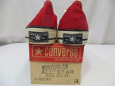 Converse Vintage Chuck Taylor Black Tag RED size 12 All Stars