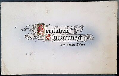 Old Antique Germany 1919 Christmas Colour Verse Postcard