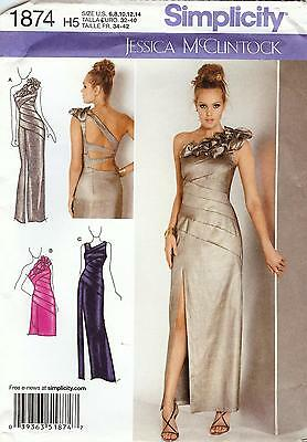 Simplicity Pattern 1874 Evening Gown Sized to Fit My Size Barbie