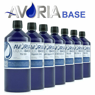 AVORIA Base Liquid Basen 1000ml 1 Liter 0mg ohne Nikotin PG VG VPG Basis
