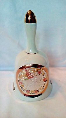 Dynasty Art of Chokin 24KT Happy 25th Anniversary Bell Made in Japan